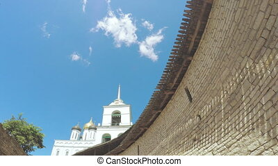 Pskov Kremlin in summer - RUSSIA, PSKOV, JULY, 2016:...
