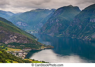 View at Aurland and Aurlandfjord - pictures of Norway - View...