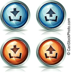 Download And Upload Web Icons