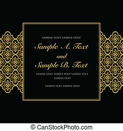 Vector Gold Formal Frame