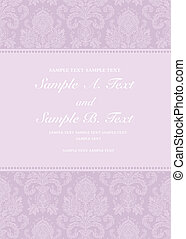 Vector Pastel Damask Frame - Vector floral frame with sample...