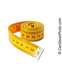 measuring tape - Yelow measuring tape, isolated on white