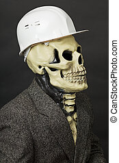 Deadly construction superintendent in helmet - The deadly...