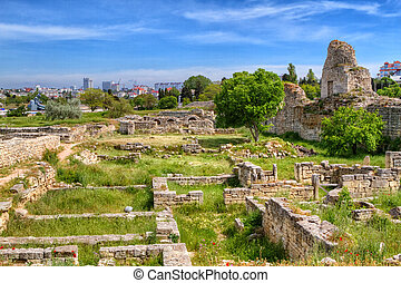 The remains of the ancient city of Chersonesus, 528 years....