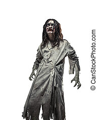 scary undead zombie. Halloween. - Scary undead zombie....