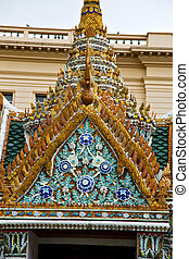 thailand asia    bangkok rain  temple      sky      and  colors religion      mosaic