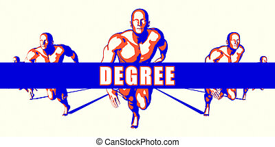 Degree as a Competition Concept Illustration Art
