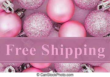 Free Shipping message, Some pale pink sparkle and matte...