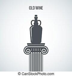 Vintage Wine Jug Design Background