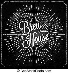 Beer Logo On Chalk Background. - Beer Logo On Chalk...
