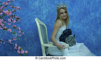 Beautiful young model in the form of Elvish princess....