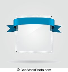 Glass framework with ribbon. Vector illustration. - Glass...