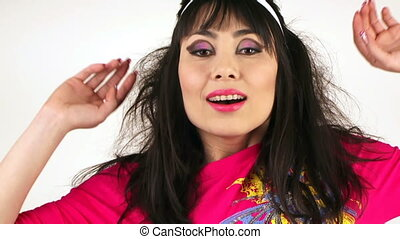 Funny girl with makeup - Beautiful girl with a professional...