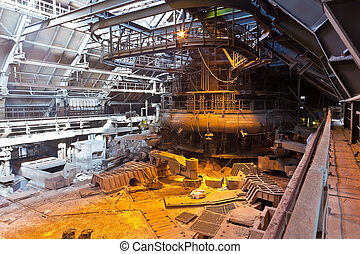 Blast-furnace workshop