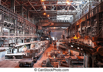 Metallurgical plant workshop - Interior of metallurgical...