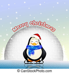 funny penguins - illustration of funny penguins