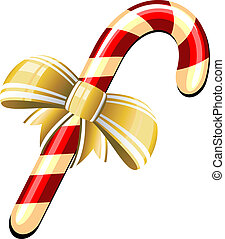 Candy Cane over white. EPS 8, AI, JPEG