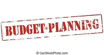 Budget planning - Rubber stamp with text budget planning...