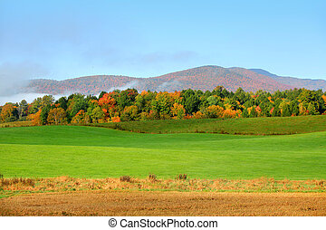 Rural Vermont - Autumn landscape in Rural Vermont
