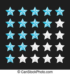 Star rating template with colored stars. Vector...