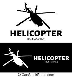 Helicopter logo vector. Brand's logo in the form of a helicopter.