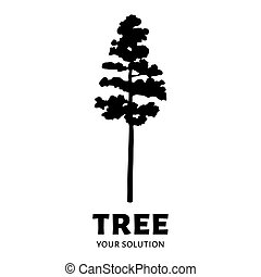 Tree logo vector. Brand's logo in the form of a tree