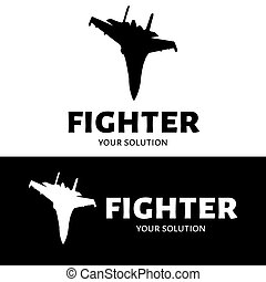Fighter logo vector. Brand's logo in the form of a fighter.