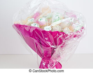 Beautiful basket made with diapers for children