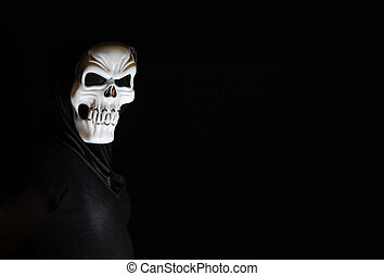 Man with scary mask