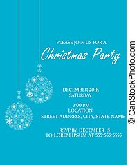 Christmas Ball invitation - vector Christmas Ball invitation