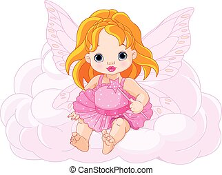 Cute Baby Fairy - Illustration of cute baby fairy