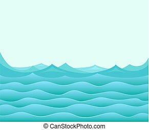 Blue ocean.