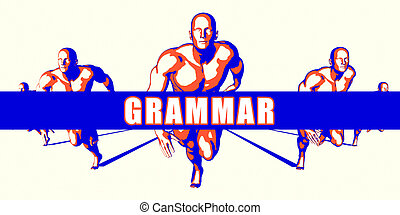 Grammar as a Competition Concept Illustration Art