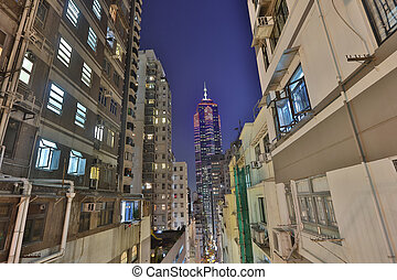 the Caine Rd at central night hk