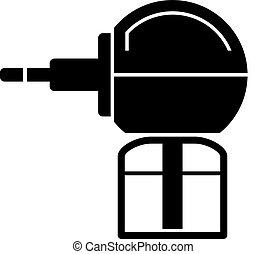 anti mosquito fumigator black symbol - illustration for the...