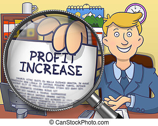 Profit Increase through Lens. Doodle Style.