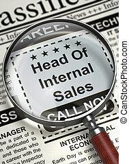 We're Hiring Head Of Internal Sales. 3D. - Head Of Internal...