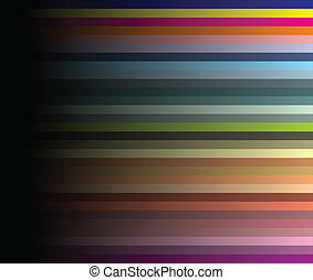 Colour structure on a black background. A vector illustration