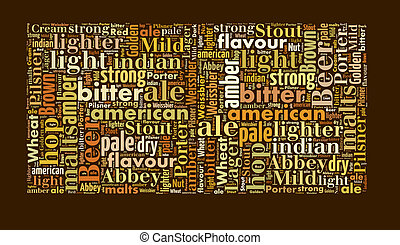 Beer word cloud, words related to beer