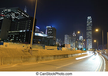 Lung Wo Road, hong kong - Lung Wo Road at night , hong kong