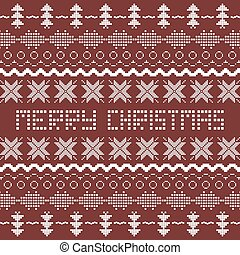 Christmas background with Scandinavian seamless pattern.