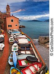 Tellaro Village at Dusk - Liguria Italy - The small village...