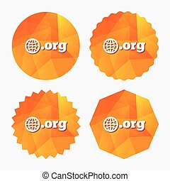 Domain ORG sign icon. Top-level internet domain. - Domain...