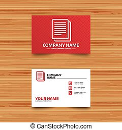 Copy file sign icon. Duplicate document symbol. - Business...