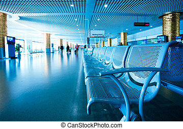 passenger in the shanghai pudong airportinterior of the...