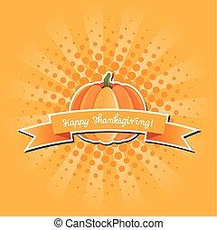 Pumpkin sticker with banner