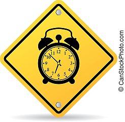 Alarm clock vector sign