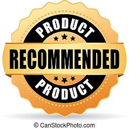 Recommended product gold icon