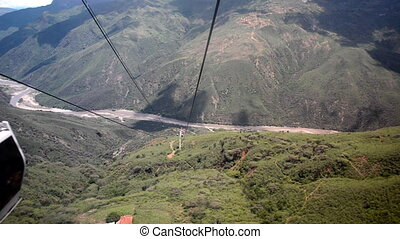 Moving through Chicamocha Canyon - Descending into...