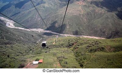 Moving through Chicamocha Canyon - Descending into...